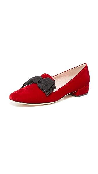 Kate Spade New York Gino Velvet Smoking Flats - Ruby Red Velvet