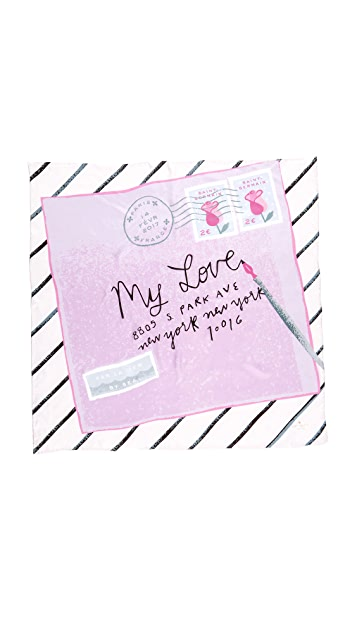 Kate Spade New York Letter From Paris Square Scarf