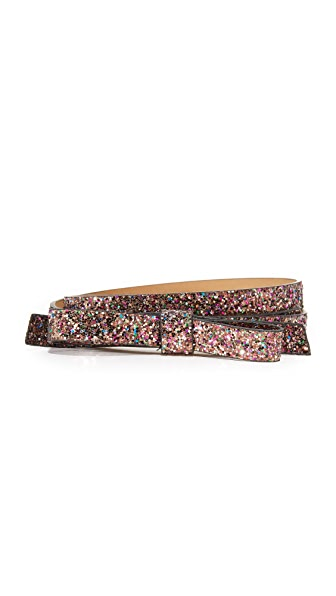 Kate Spade New York Glitter Classic Bow Belt