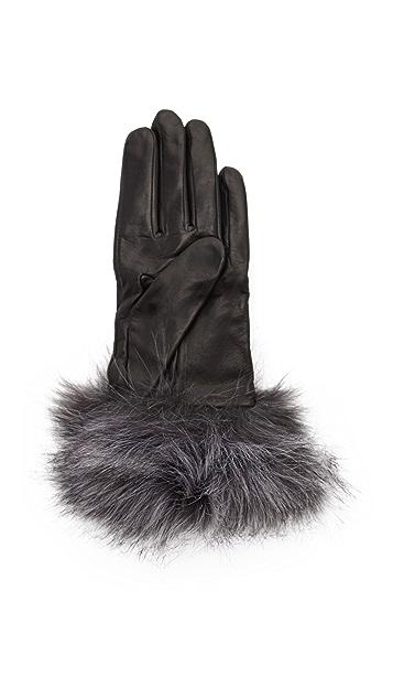Kate Spade New York Fox Faux Fur Gloves