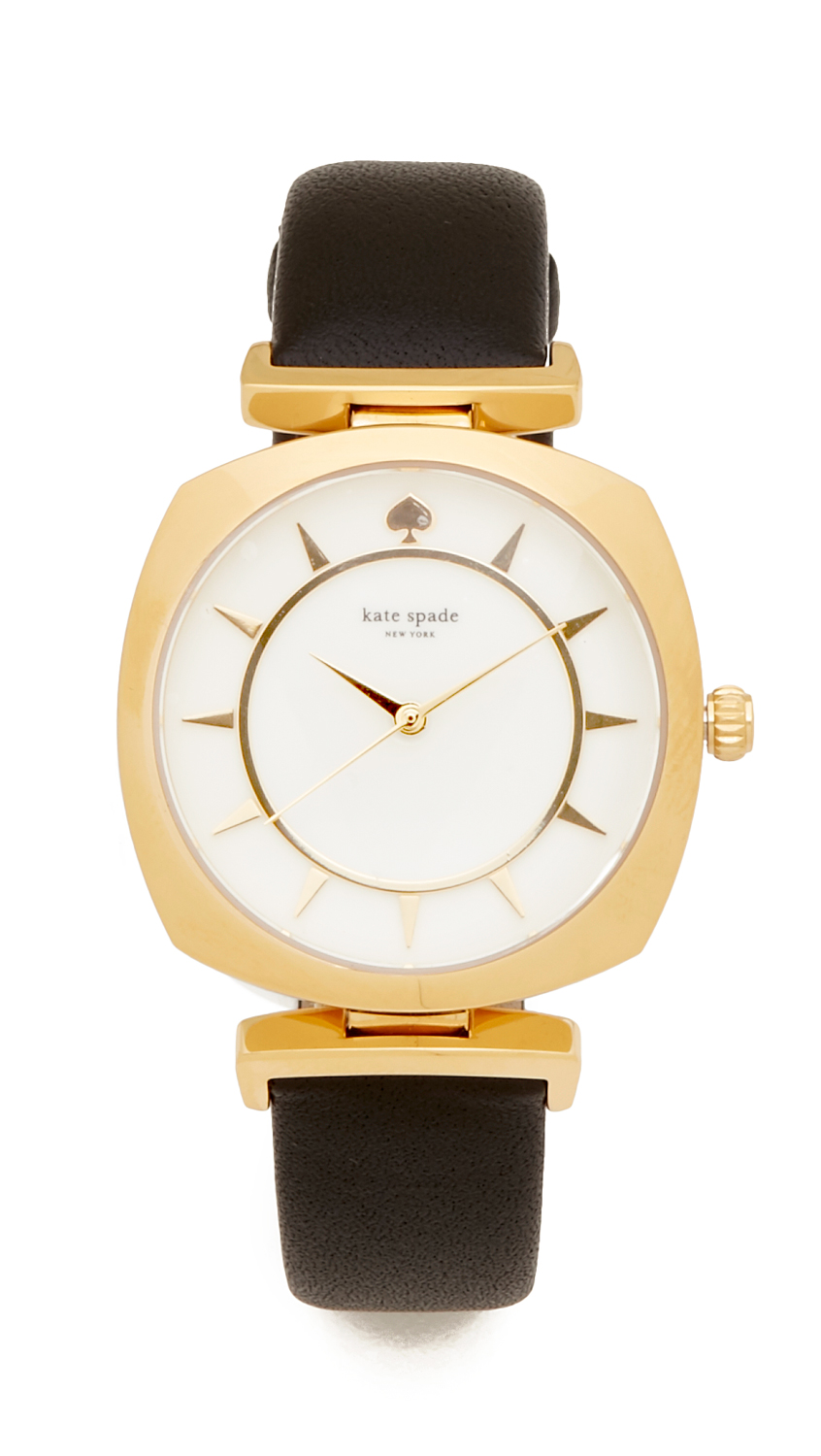 Kate Spade New York Barrow Watch - Black/Gold at Shopbop
