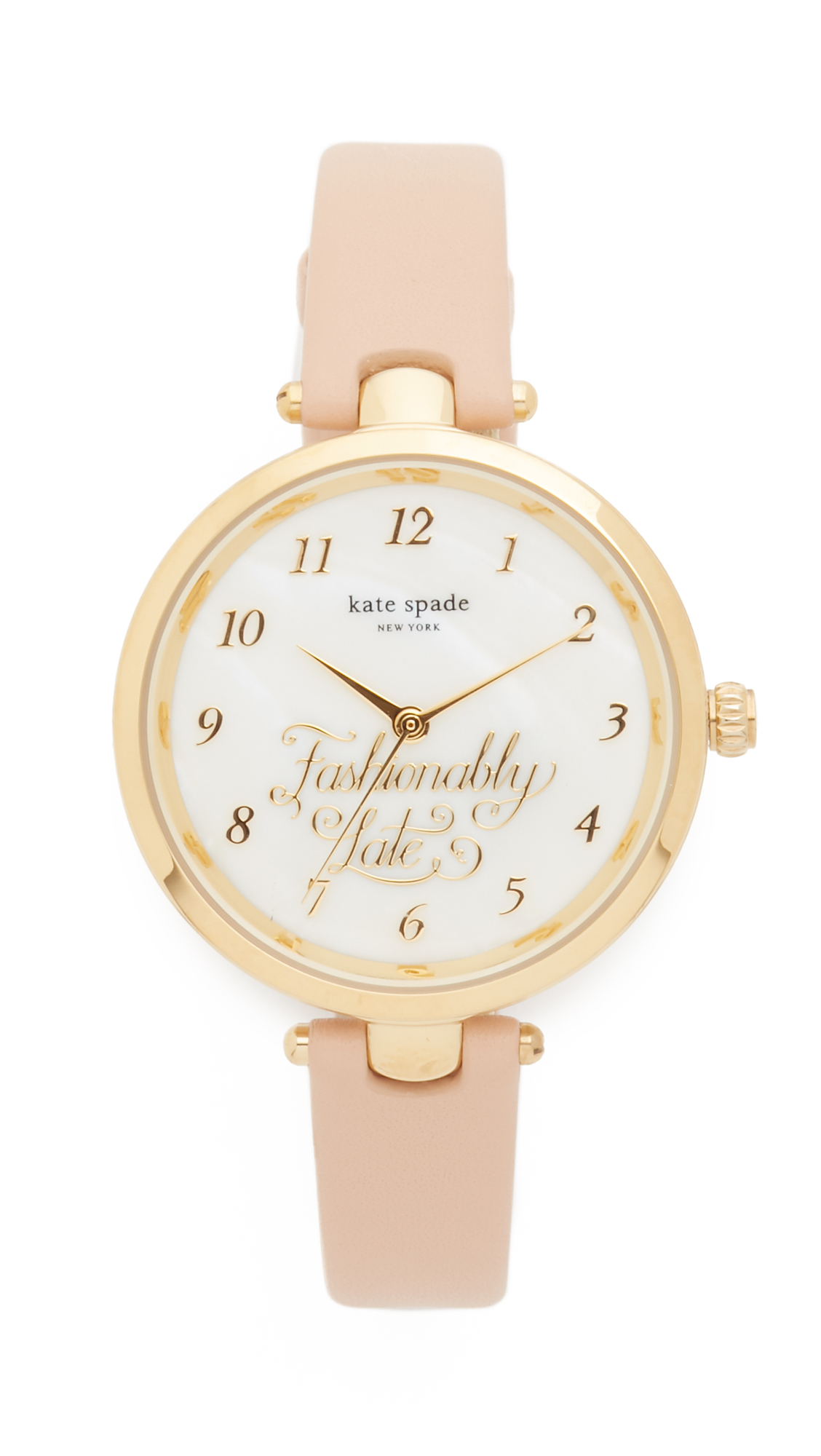 Kate Spade New York Holland Fashionably Late Watch - Pink/Gold at Shopbop