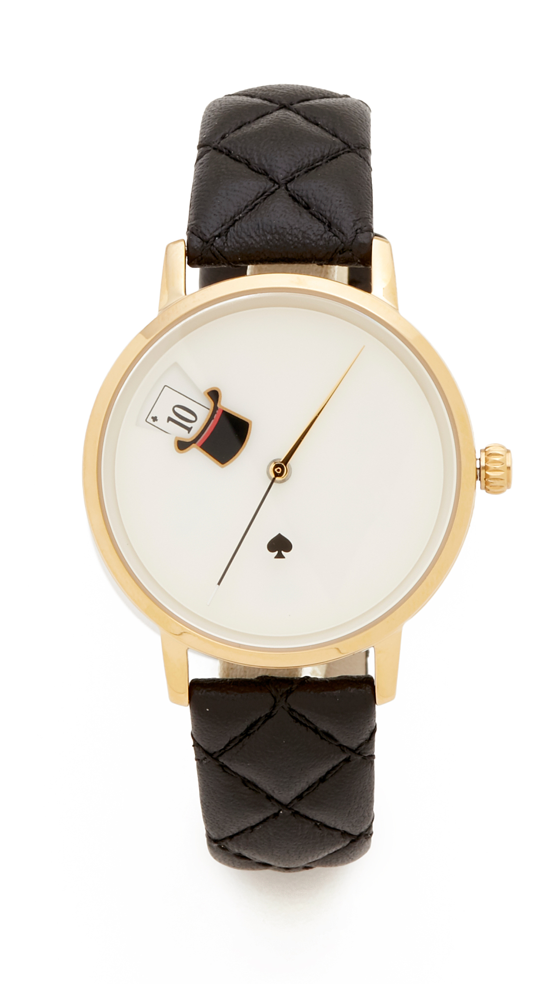 Kate Spade New York Magic Hat Quilted Metro Watch - Black/Gold at Shopbop