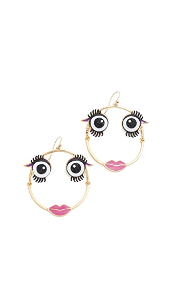 Kate Spade New York Imagination Monster Hoop Earrings
