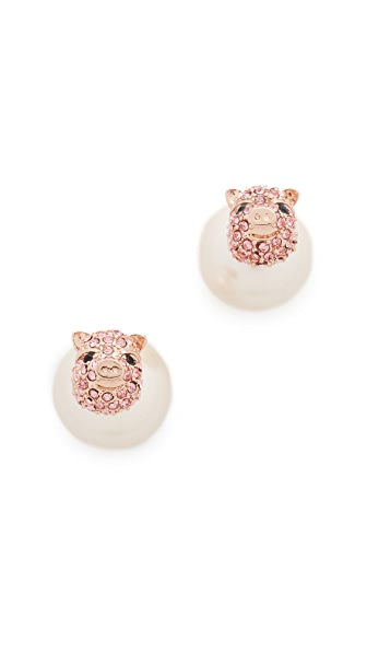 Kate Spade New York Imagination Pave Pig Reversible Earrings
