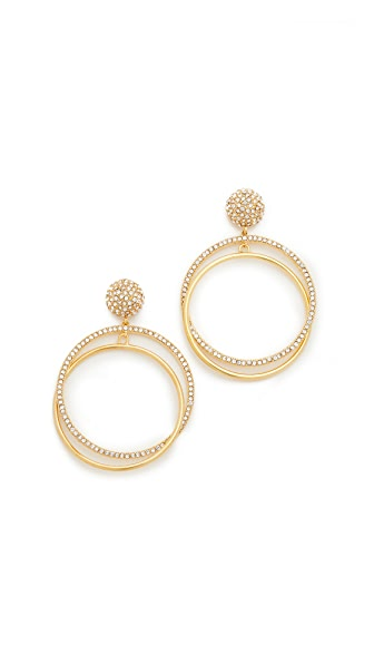 Kate Spade New York Ring It Up Drop Hoop Earrings