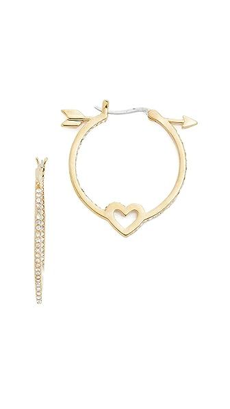 Kate Spade New York Be Mine Heart And Arrow Hoop Earrings