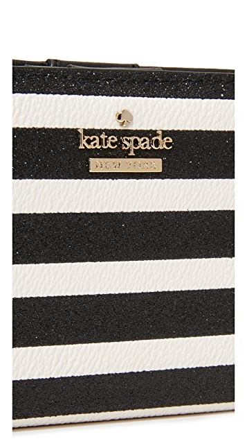 Kate Spade New York Glitter Stripe Stacy Wallet