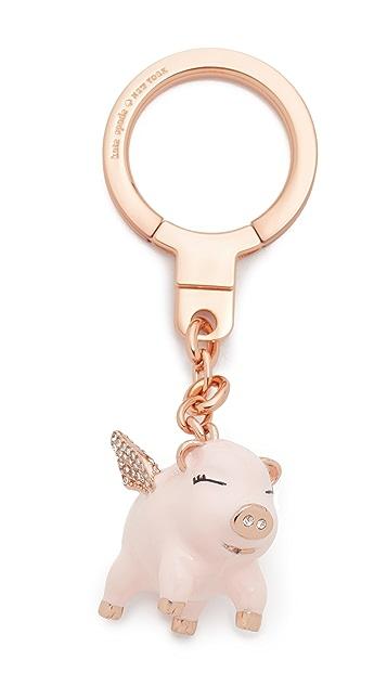 Kate Spade New York Jeweled Flying Pig Key Fob