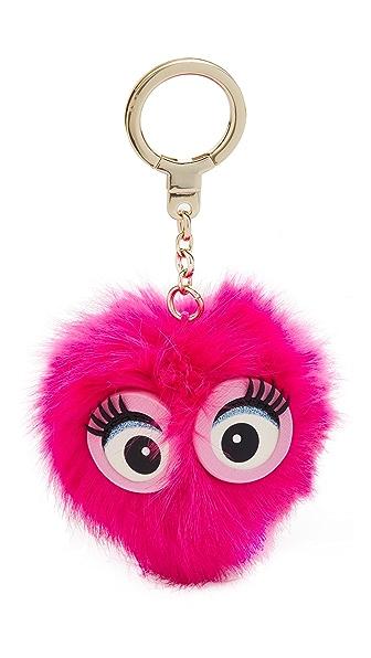 Kate Spade New York Monster Pouf Pig Key Fob