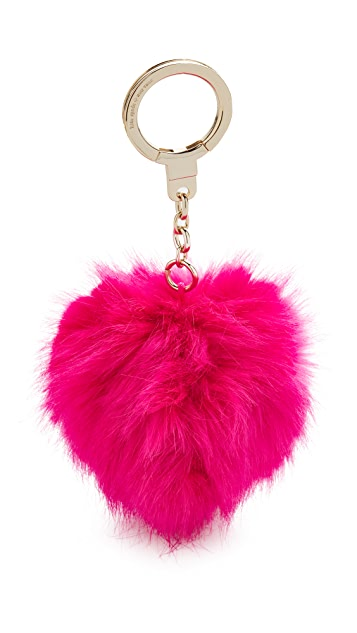 Kate Spade New York Monster Pouf Pig Key Fob
