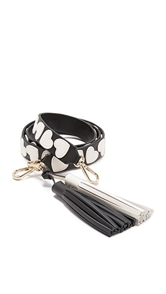 Kate Spade New York Be Mine Applique Hearts Guitar Strap