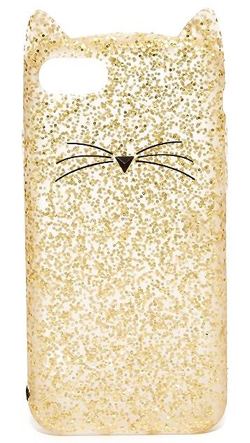 Kate Spade New York Glitter Cat iPhone 7 Case