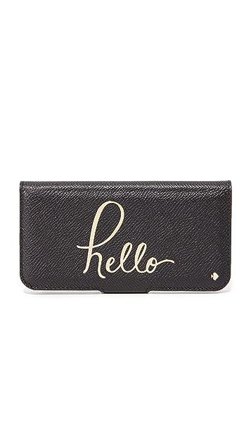 Kate Spade New York Hello Folio iPhone 7 Case