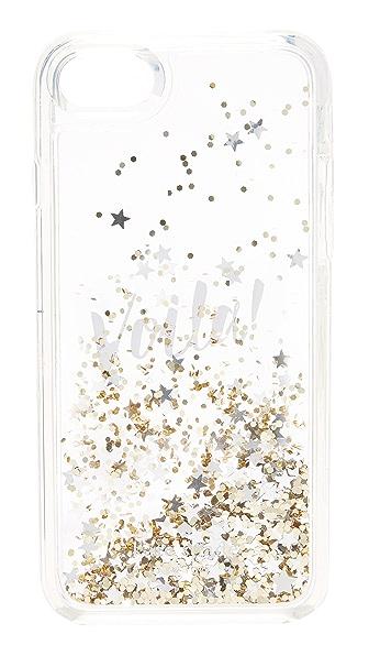 Kate Spade New York Liquid Glitter Voila iPhone 7 Case