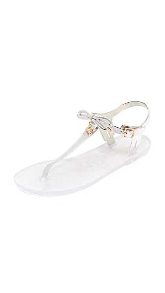 Kate Spade New York Fanley Jelly Sandals - Silver