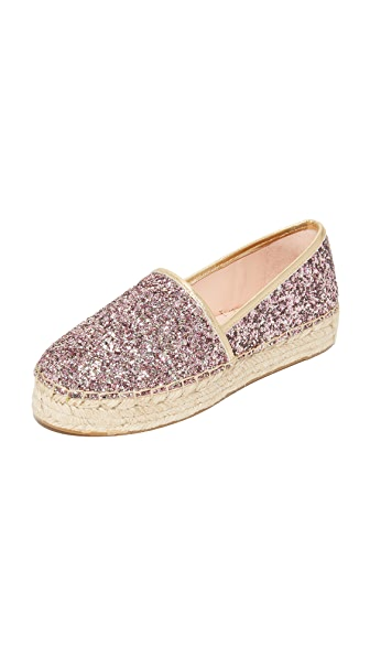 Kate Spade New York Linds Too Platform Glitter Espadrilles - Rose Gold Multi