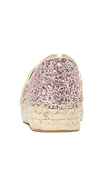 Kate Spade New York Linds Too Platform Glitter Espadrilles