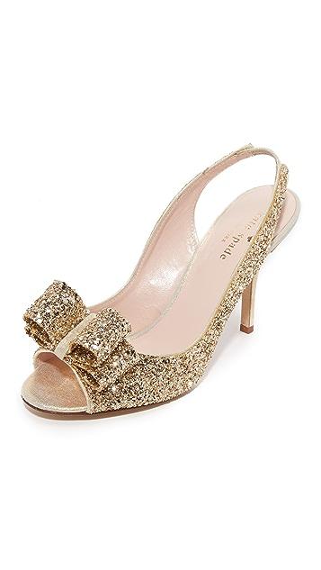 Kate Spade New York Charm Glitter Slingback Sandals