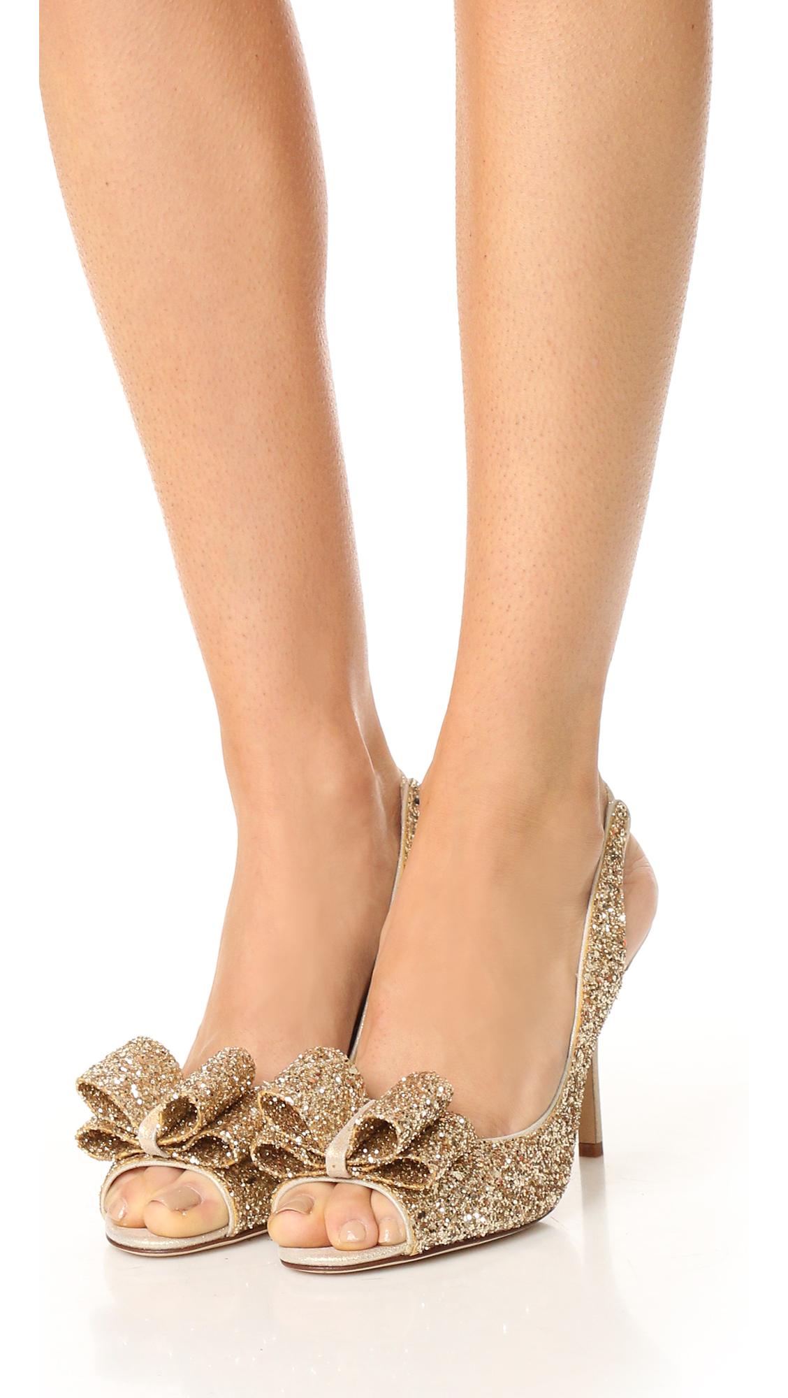 Kate Spade New York Charm Glitter Pumps new arrival online discount big sale outlet visit new 8iVFl5EDJ