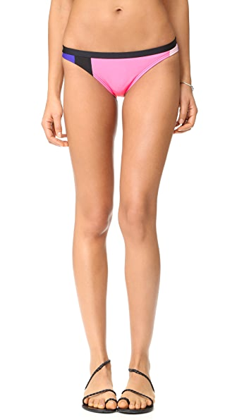 Kate Spade New York Limelight Classic Bikini Bottoms In Black Multi
