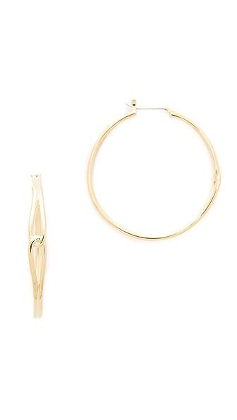 Kate Spade New York Get Connected Large Hoop Earrings