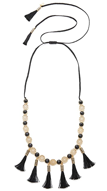 Kate Spade New York Moroccan Tile Tassel Statement Necklace