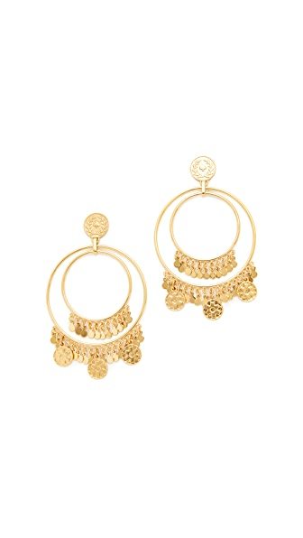 Kate Spade New York Flip a Coin Statement Earrings - Gold