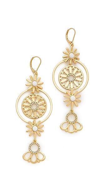 Kate Spade New York Golden Garden Linear Flower Earrings