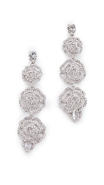 Kate Spade New York Crystal Rose Linear Earrings