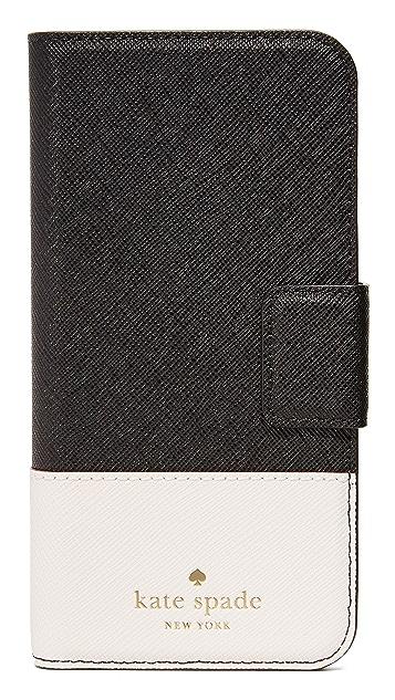 Kate Spade New York Leather Wrap Folio iPhone 7 / 8 Case