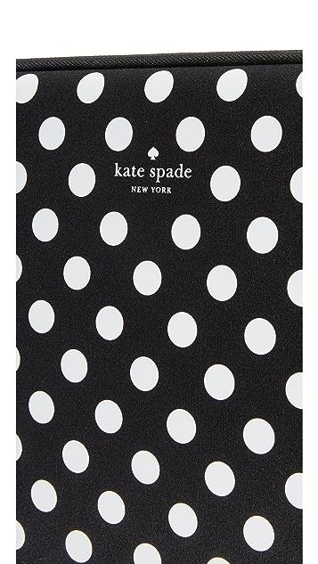 Kate Spade New York 13 Inch Neoprene Dot Sleeve