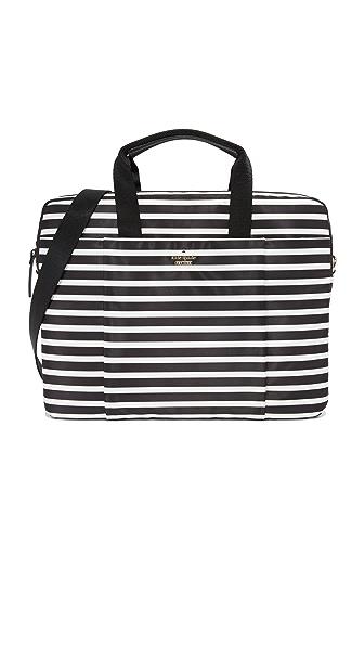 Kate Spade New York Stripe Nylon Laptop Bag