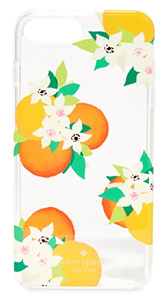 Kate Spade New York Orange Blossoms iPhone 7 Plus Case - Clear Multi