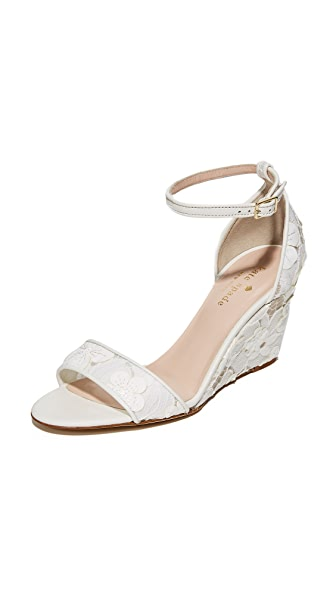 Kate Spade New York Roosevelt Lace Wedges - Off White
