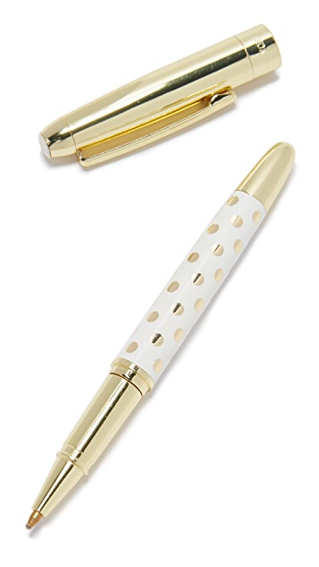 Kate Spade New York Gold Dots Ballpoint Pen