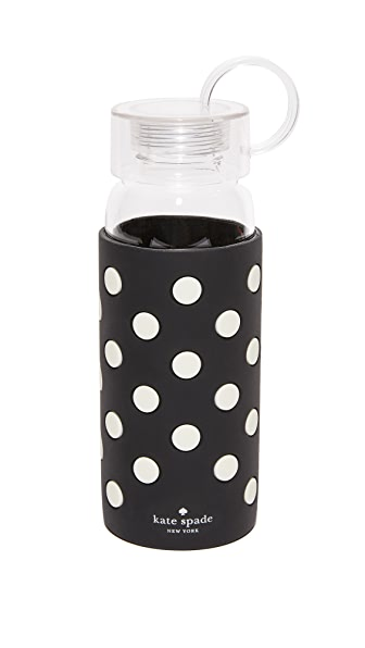 Kate Spade New York Le Pavilion Black Dot Water Bottle