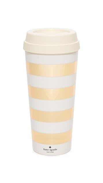 Kate Spade New York Gold Stripe Thermal Mug