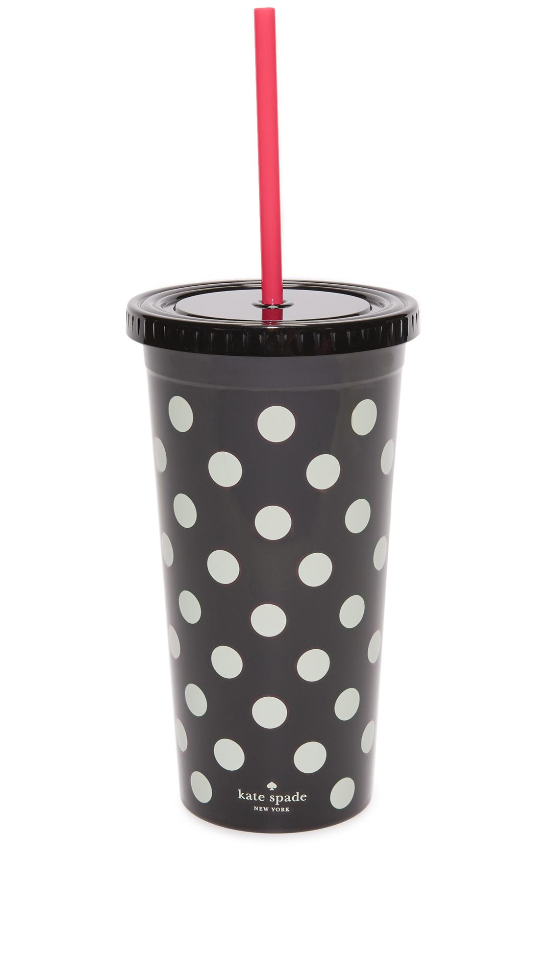 Kate Spade New York Le Pavillion Dots Tumbler - Black Dots