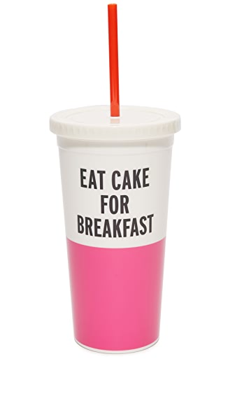 Kate Spade New York Eat Cake For Breakfast Tumbler - Pink/Black/White