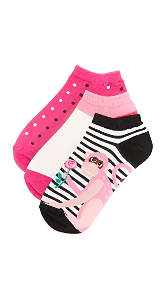 Kate Spade New York Stripe Monkey Sock Set