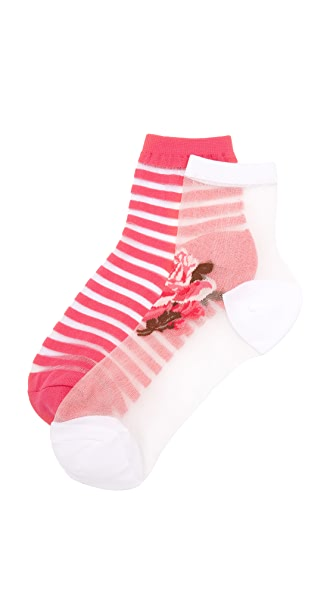 Kate Spade New York Rosa Sheer Sock Set