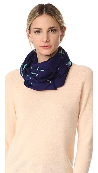 Kate Spade New York Удлиненный шарф Peacock