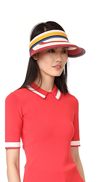 Kate Spade New York Berber Stripe Visor - Multi Paprika