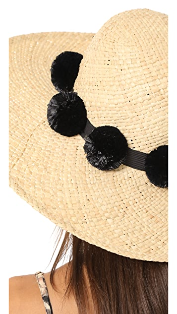 Kate Spade New York Sunhat with Pom-Poms