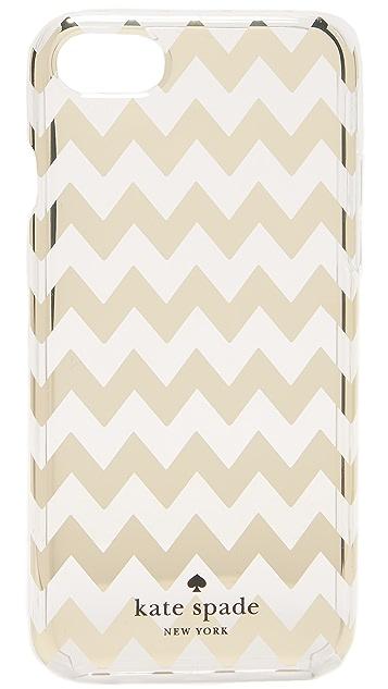 Kate Spade New York Chevron Gold iPhone 7 Case
