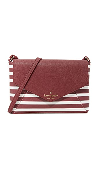 Kate Spade New York Monday Cross Body Bag - Merlot/Cream