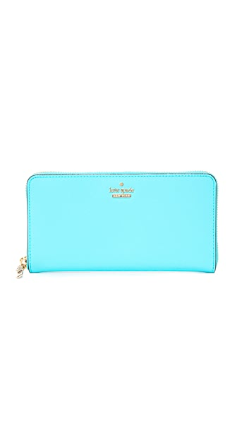 Kate Spade New York Cameron Street Lacey Zip Around Wallet - Atoll Blue