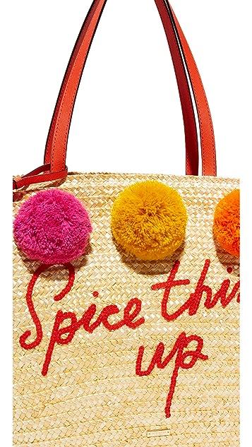 Kate Spade New York Large Pom Pom Market Tote