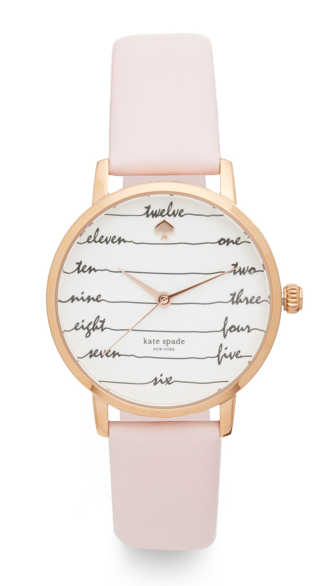 Kate Spade New York Metro Watch - Pink/Rose Gold